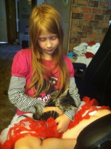 Lisi loves the Cookie cat. :)