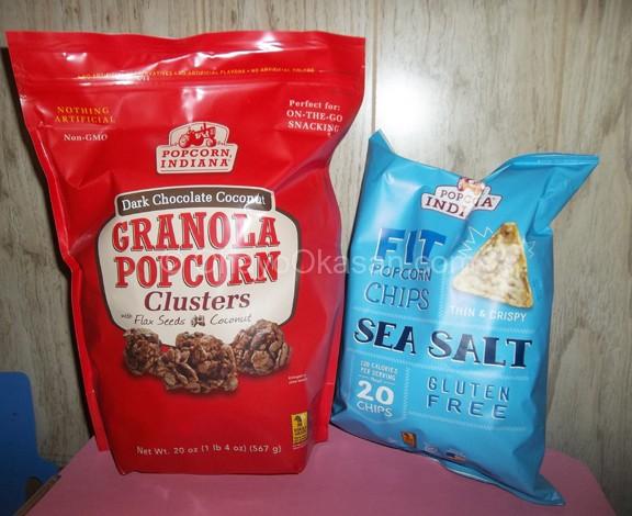 Popcorn Indiana FIT chips, Granola Popcorn