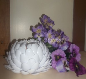 Dollar Store Craft Idea - Blooming Flower Candle Holder