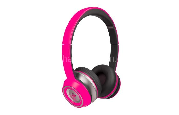 Monster NTunes Headphones - Neon Pink