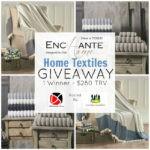 Enchante Home Textiles Giveaway – 8/17