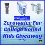 Zerowater For College Bound Kids Giveaway – Ends 8/31