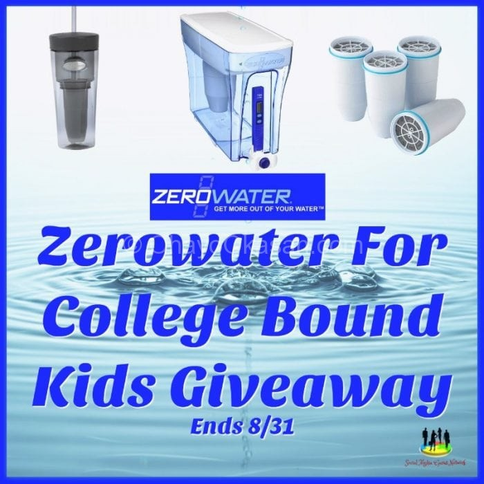 Zerowater For College Bound Kids Giveaway
