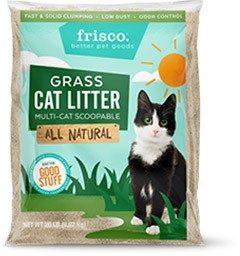 Frisco All Natural Grass Clumping Cat Litter