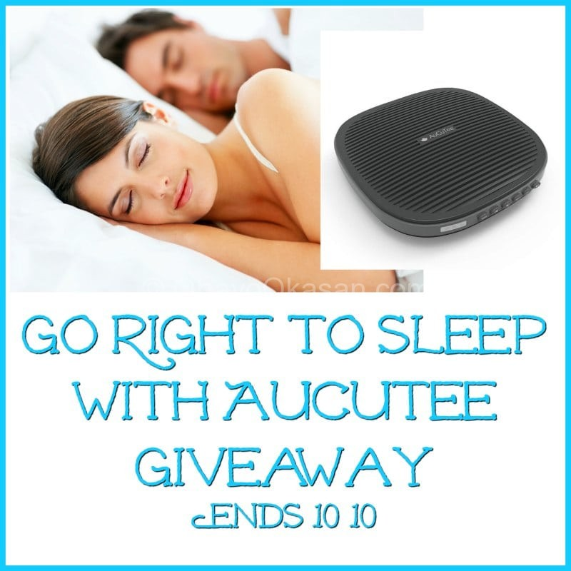 Go Right To Sleep With AuCuTee Giveaway