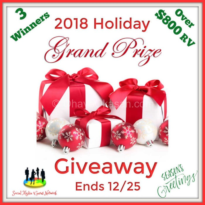 Holiday Grand Prize Giveaway