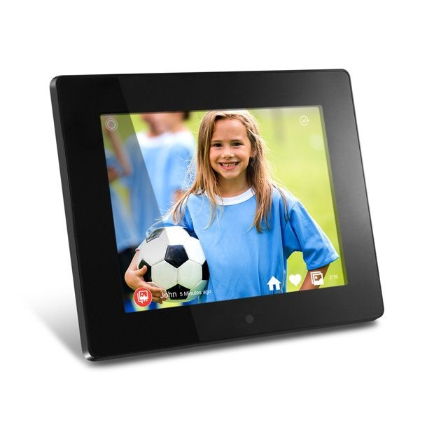 Aluratek 8 inch WiFi Digital Photo Frame with Touchscreen